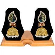 Jewels Gold Alloy Party Wear Wedding Stylish Fancy Jhumki Earring Set For Women Girls