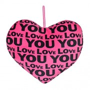 Chords Distinct Pink Printed Hanging Love You Heart Cushion Best Valentine's Day Gift Heart 20CM