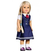 Cuteadorn School Outfit Clothes School Uniform Set Dress Fits 18 Inch Girl Doll