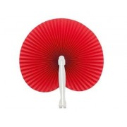 Red Hawaiian Paper Fans