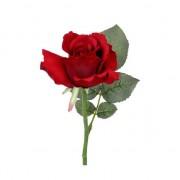 Bellatio flowers & plants Kunstroos rood 30 cm