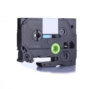 Banda compatibila Brother TZ-S711 / TZe-S711, 6mm x 8m, extr.adh. text negru / fundal verde