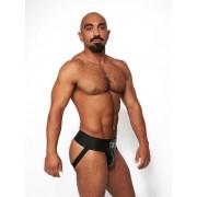 Mister B Leather Premium Jock Strap Underwear Black/Grey 231160