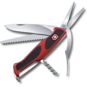 Victorinox RangerGrip 71 Gardener 130mm Component Handles Red/blk 4 Function Multi Utility Swiss Knife(Red, Black)