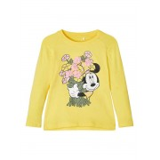 NAME IT Disney Mimmi Pigg-prydd Långärmad T-shirt Kvinna Gul