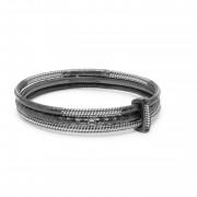 Buddha to Buddha 925 Sterling Zilveren Refined Dunia Armbanden Set 316-L (lengte: 22.00 cm)