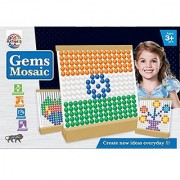 Ratna's Toyztrend Gems Mosaic 500 Buttons In 10 Different Colours For Kids Ages 3+