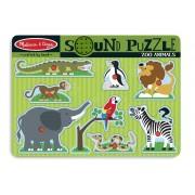 Puzzle de lemn cu sunete Animale de la Zoo