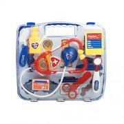 Bfeplfashion Kid Child Pretend Toy Set Medicine Box Play Doctor Nurse Medical Kit Playset - Blue