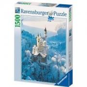Пъзел от 1500 части - Neuschwanstein Castle in Winter, Ravensburger, 703002