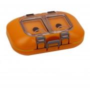 MagiDeal Mini Caja De Almacenamiento Caja De Gancho Cebos De Pesca Señuelo De La Mosca Impermeable Con Correa De Mano