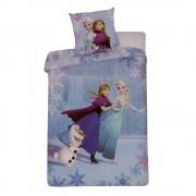 Спално бельо и калъфка за възглавница Frozen Anna & Elsa сини