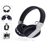 Foldable Stereo Over-ear Bluetooth 4.0 Headphone Support TF Card/FM/Aux-in - Black