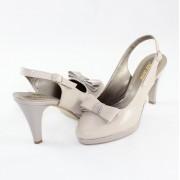 Pantofi piele naturala dama - gri, Nike Invest - toc mediu - S469-GriL