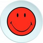 Farfurioara pentru cina Smiley Portocaliu/Alb, Ø25 cm
