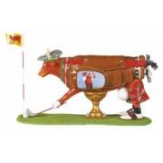Obiect Decorativ Personalizat Vacuta Jucatorul de Golf Cadou Deosebit Glumet Amuzant Hazliu