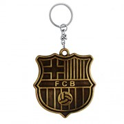 The Marketvilla Single Sided Football Club Metal Keychains Gold Finish FCB Barcelona Keychain with Metal Key Ring for Kids, Men Women Boys & Girls