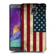 Husa Samsung Galaxy Note 4 N910 Silicon Gel Tpu Model USA Flag
