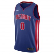 Andre Drummond Icon Edition Swingman (Detroit Pistons) Nike NBA Connected Trikot für Herren - Blau