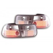 FK-Automotive LED Feux arrieres pour Honda Civic 2-portes (type EJ9 / EK1 /2/3) An 96-00, chromé