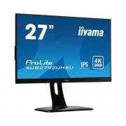 iiyama 27' ETE, ULTRA SLIM LINE, 3840x2160 UHD, IPS, 4ms, 13cm height adj. stand, 300cd/m², DVI, HDMI, DisplayPort, Speakers, USB-HUB(2x3.0)