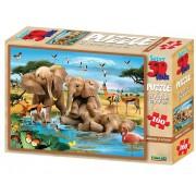 Puzzle 3D 100 piese Making a Splash