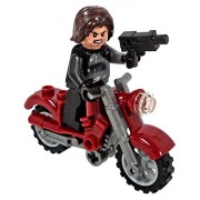 Lego Winter Soldier Minifigure With Motorcycle - Civil War Version - Loose