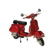 Moto Vespa mini 1978 roja escala 1:12