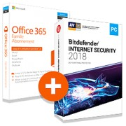 Pack Office 365 Famille + Bitdefender Internet Security 2018 - 1 PC - 1 an