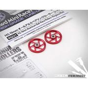 Generic 1 Pair HG 19mm CNC Aluminum Ball-Race Rollers(Ringless/Red) 95237 for Tamiya Mini 4WD Racing Car Model D