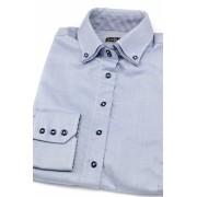 Modrá dámská košile s dlouhým rukávem Avantgard 720-1516-40