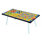 Kirat Multipurpose Folding Top with Ludo and Snakes & Ladder Game for Kids