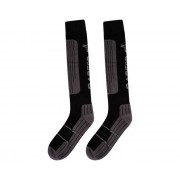 Men's Performance Ski Socks Black Ebony Grey