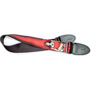 Stagg STE PINUP RED Adjustable Length Ethylene Pin Up Girl Motif 2-Inch Wide Guitar Strap - Red