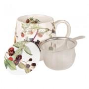 Könitz Tee Tasse mit Deckel & Sieb Früchtetee