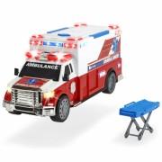 Masina ambulanta Dickie Toys Ambulance DT-375 cu accesorii