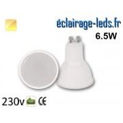 Ampoule LED GU10 translucide 6.5w blanc chaud 230v ref gu10-20
