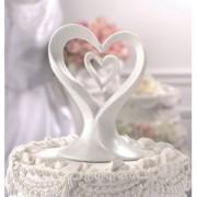 Figurina Tort Nunta Inima Portelan. COD CT320H