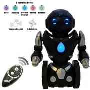 Remote Control Toy Robot For Kids TG634-S - Black & Silver Balance Robot (Version 2!!) - Smart Interactive Self-Balancing RC Robot By ThinkGizmos (Trademark Protected)