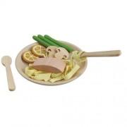 PlanToys Houten pasta met zalm