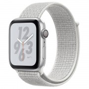 Apple Watch Nike+ Series 4 GPS 40mm Alumínio Prateado com Bracelete Loop Nike Branca Polar
