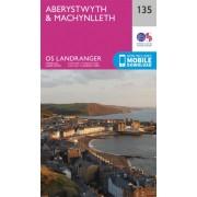 Wandelkaart - Topografische kaart 135 Landranger Aberystwyth & Machynlleth | Ordnance Survey