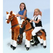 Ufree Horse Ride On Pony Toy, Moving Rocking Horse, Giddyup And Go Go Unique Horse Gift For Kids 3 To 9 Years Old ( White Mane And Tail)