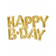 Vegaoo.es Globo aluminio letras Happy Birthday dorado