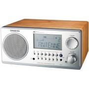 WR-2 Asztali rádió ébresztős LCD kijelzővel RDS ezüst dió