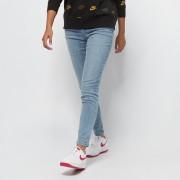 Urban Classics Ladies High Waist Slim Jeans - Blauw - Size: 28/30; female
