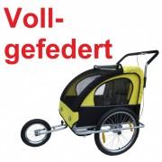 Veloanhänger & Jogger 2in1 gelb