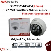 Hikvision Original English Version Security Camera DS-2CD2142FWD-I(2.8mm) 4MP WDR Fixed Dome IP Camera IP67 POE CCTV Camera