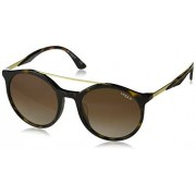 VOGUE VO5246SF anteojos de sol redondas de ajuste asiático para mujer, palo Rosa/Rosa Grado Gris Gradiente Azul, 54 mm
