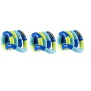 Set of 3 Loose Packed Tangle Jr. Original Classic Fidget Toys Green and Blue